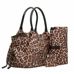 Kate Spade Puffer Leopard Print Stevie Baby Business Bag