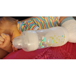 Mam 0 Months Anti-Colic Bottle Boy, 3 Pack, 8 Ounce, Colors May Vary