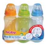 Nuby Tinted Bottle, Colors May Vary, 3 Pack, 10 Ounce
