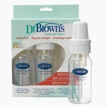 Dr. Brown's 4 oz Natural Flow Baby Bottle, 3 Pack