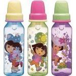 Munchkin 8 oz. Dora Bottles BPA Free 3 Pack