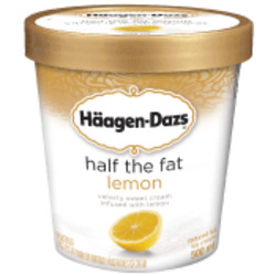 Haagen-Dazs Half The Fat Lemon Ice Cream