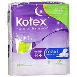Kotex Overnight Maxi Pads with Wings