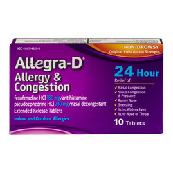 Allegra-D Allergy & Congestion Non-Drowsy Tablets