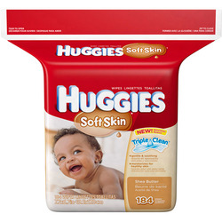 Huggies Soft Skin Wipes with Shea Butter
