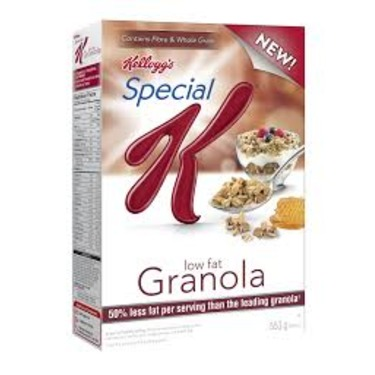 Special K Low Fat Granola Cereal