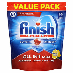 Finish All in 1 Gelpacs Orange Dishwashing Detergent