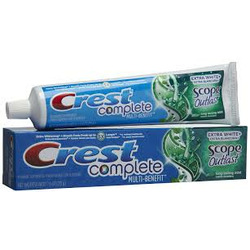 Crest Toothpaste with Scope