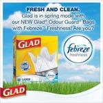 Glad Odour Guard Febreze Freshness Bags
