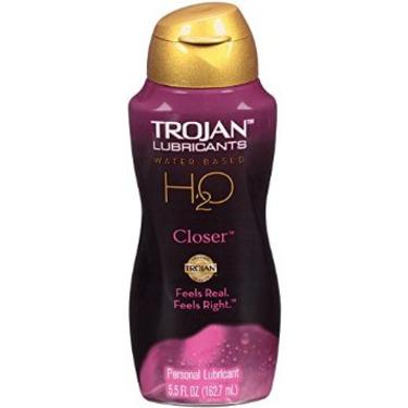 Trojan H2O Water-Based Lubricant - Closer