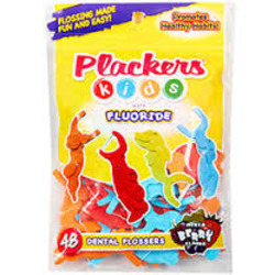 Plackers Kids with Fluoride Dental Flossers