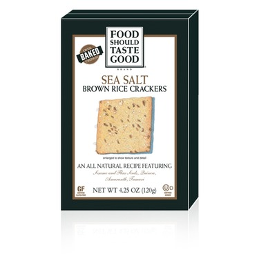 Food Should Taste Good Sea Salt Brown Rice Crackers