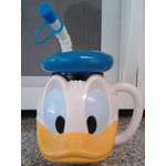 Donald Duck sipping cup