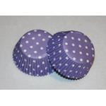 Wilton 24 Lavendar Polka Dot Cupcake Liners