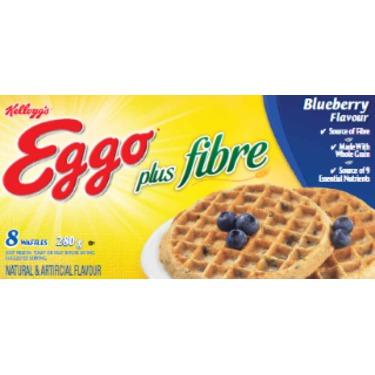 Eggo Plus Fibre Blueberry Flavour Waffles