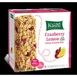 Kashi Chewy Granola Bars Cranberry Lemon with Chia