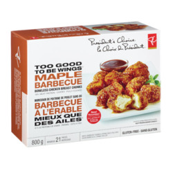 PC Too Good To Be Wings Maple Barbecue Boneless Chicken Breasts Chunks