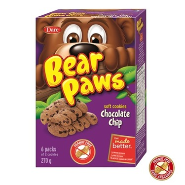 Dare Bear Paws Chocolate Chip