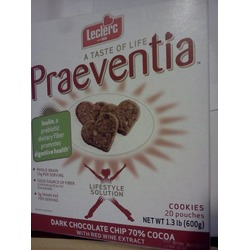 Leclerc Praeventia Dark Chocolate Chip with Red Wine Extract Cookies