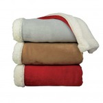 Linen Chest Sherpa Microplush Throw