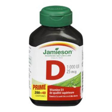 Jamieson Vitamin D 1,000iu Bonus 240 Count
