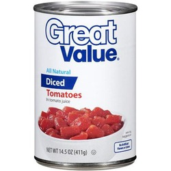 Great Value Diced Tomatoes