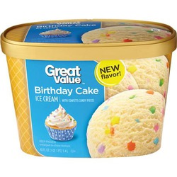 Great value birthday party ice cream