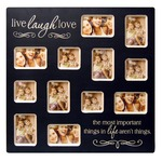Haven Live-love-laugh Wide Wood Collage Frame
