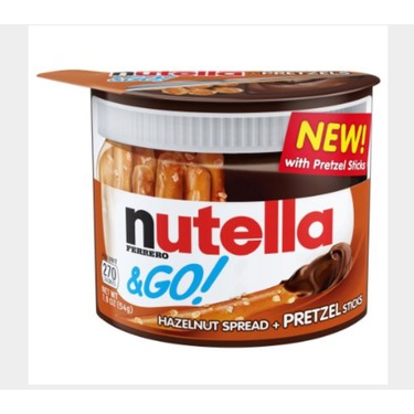 Nutella & GO Hazelnut Spread and Pretzel Sticks