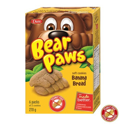 bear paw banana flavoured