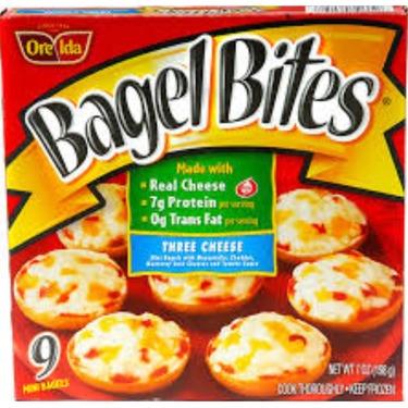 Bagel bites three cheese