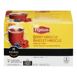 Lipton Berry Hibiscus Herbal Tea K-Cup Packs