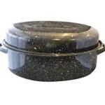 Speckled roasting pan