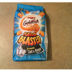 Goldfish in blasted screamin' salt & vinegar