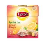 Lipton Herbal Tea Lemon Ginger Pyramid Tea Bags