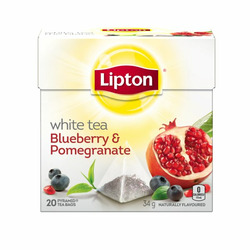 Lipton® White Tea Blueberry and Pomegranate Pyramid Tea Bags