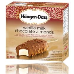 Häagen-Dazs vanilla milk chocolate almond bars