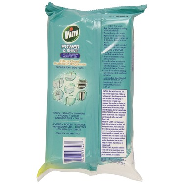 Vim Power & Shine Multi-Purpose Wipes Citrus Clean