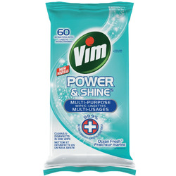 Vim Power & Shine Multi-Purpose Wipes Ocean Fresh