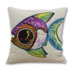 Watercolor Angelfish Zippered 18x18 Zippered Pillowcase
