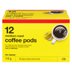 No Name Coffee Pods, Medium Roast