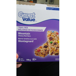 Great Value - Mountain Chewy Nut Bars