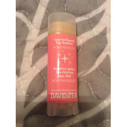 David's Tea infused lip butter, forever nuts