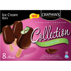 Chapman's pistachio ice cream bars