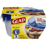 Glad Food Storage Containers - Big Bowl Container - 48 Ounce - 3 Count