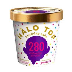 Halo Top Birthday Cake