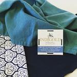 Indigold Watercolors Flour Sack Towels