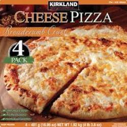 Kirkland frozen cheese pizza
