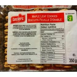 Leclerc Maple Cookies