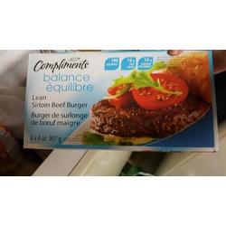 Compliments Balance Lean Sirloin Beef Burgers
